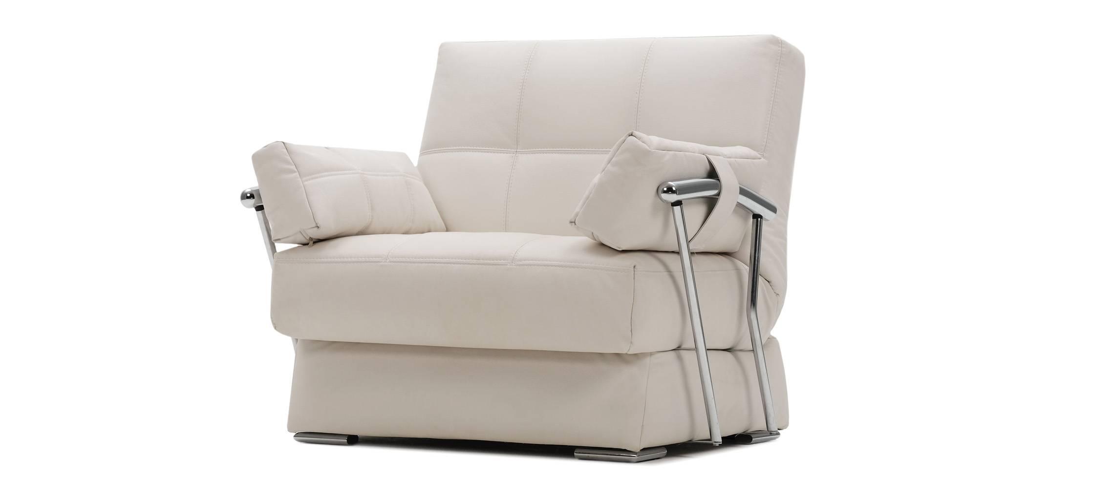 ДУДИНКА Кресло натуральная кожа California белый